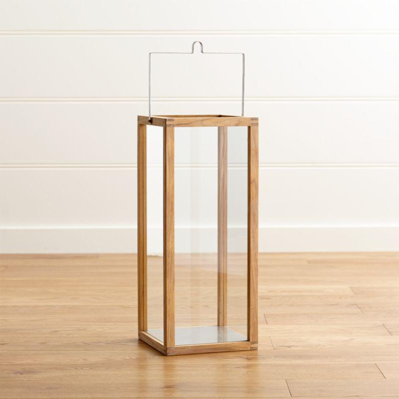 Crosby Natural Teak Lantern 24 Quot Reviews Crate And Barrel