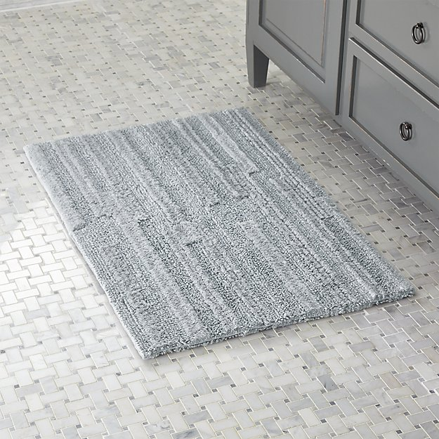 Crosley Grey Reversible Bath Rug Crate And Barrel