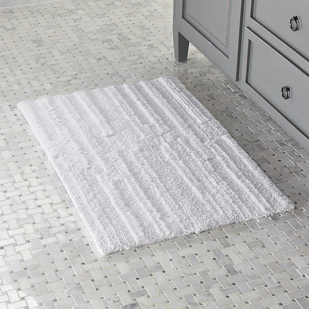 Crosley White Reversible Bath Rug Crate And Barrel