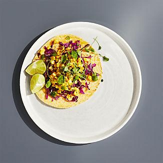 Cruz Cream Melamine Dinner Plate