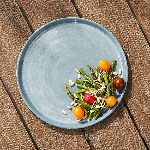Cruz Light Blue Melamine Dinner Plate - Image 1 of 4