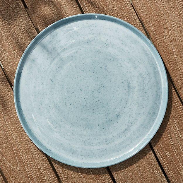Cruz Light Blue Melamine Platter - Image 1 of 4