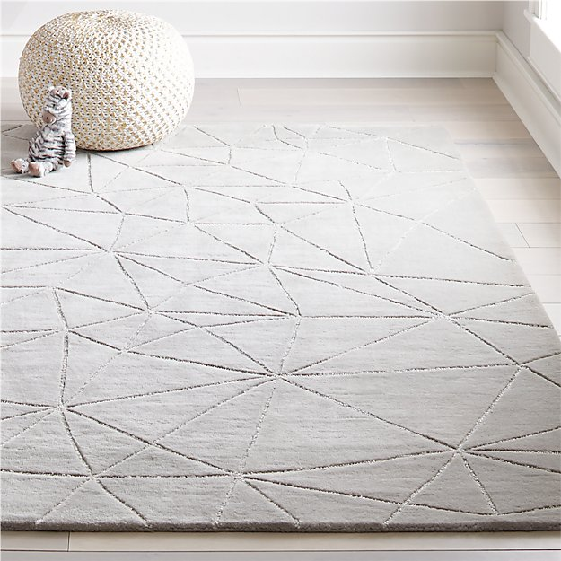 crystal mosaic kids rug grey crate and barrel. Black Bedroom Furniture Sets. Home Design Ideas