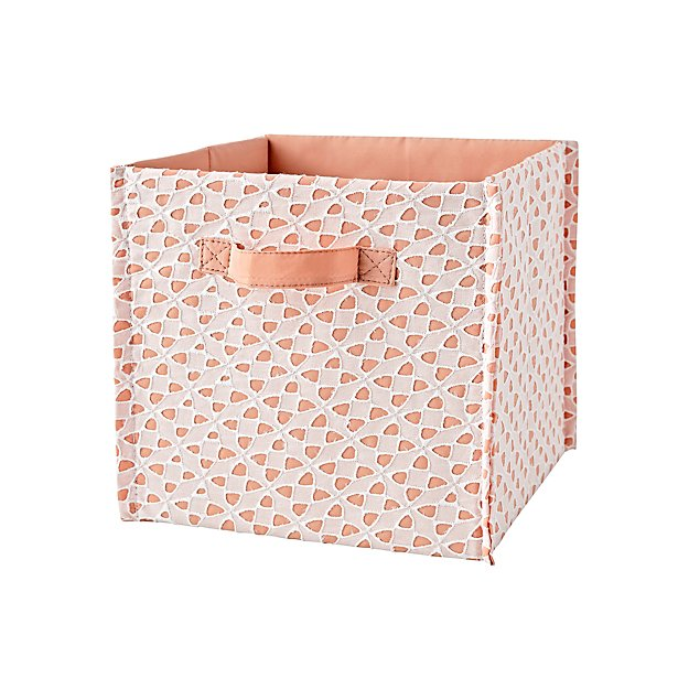 Peach Storage Cube Bin In Clearance Kids Accessories