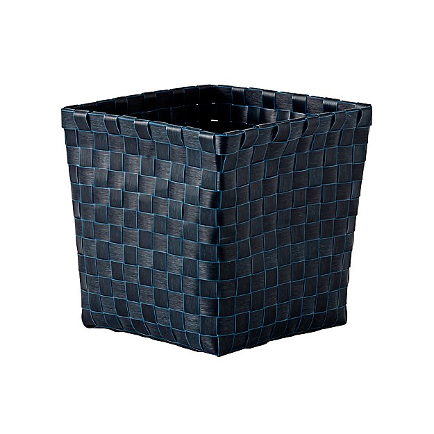 Strapping Woven Orange Cube Basket Reviews Crate And