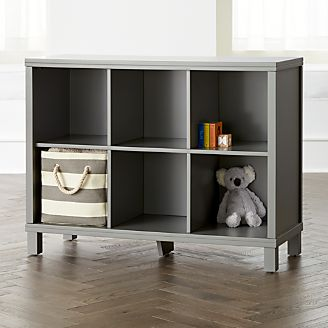 Grey 6 Cube Bookcase