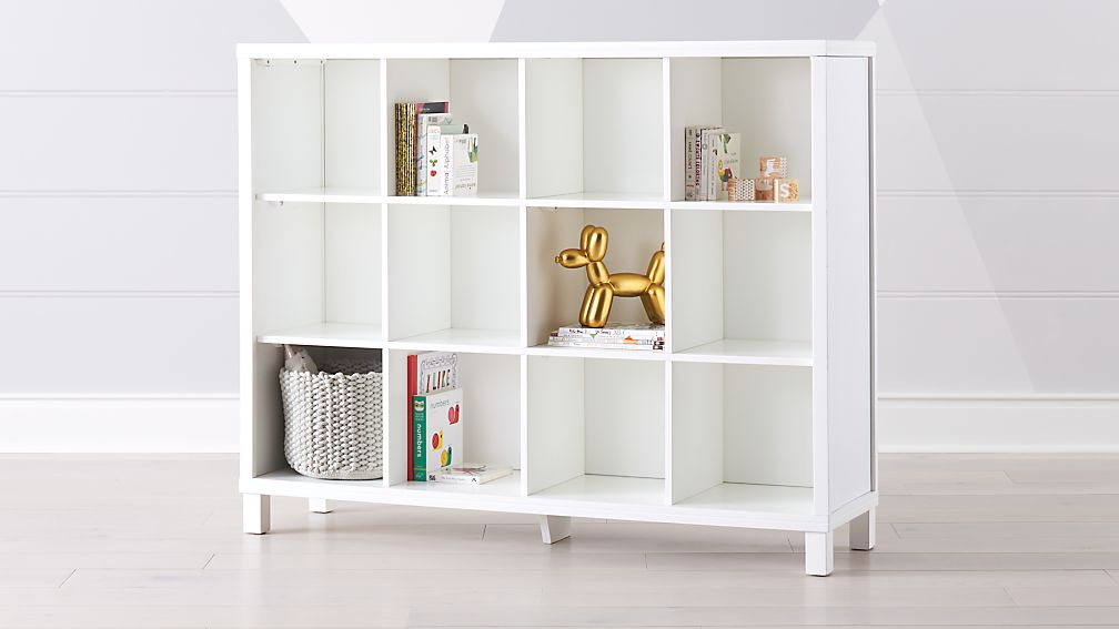 white 12 cube storage unit reviews crate and barrel. Black Bedroom Furniture Sets. Home Design Ideas