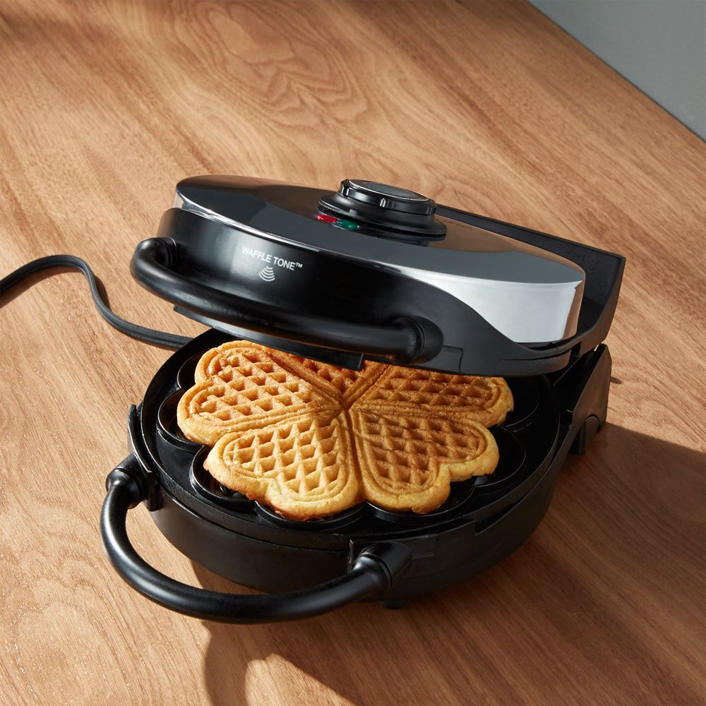 CucinaPro Heart Shaped Waffle Maker - Crate and Barrel
