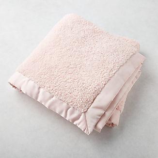 Pink Satin Trim Baby Blanket