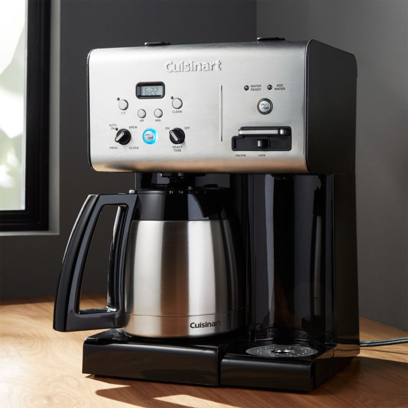Drip Coffee Maker Hot Water : Cuisinart Plus 10-Cup Programmable Coffee Maker plus Hot Water System Crate and Barrel