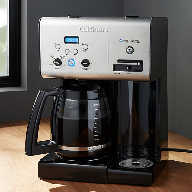 cuisinart programmable 12 cup coffee maker with  water system + ...