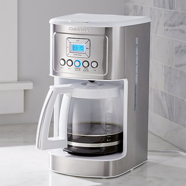 Cuisinart 14 Cup Perfectemp Programmable Coffee Maker White Reviews Crate And Barrel