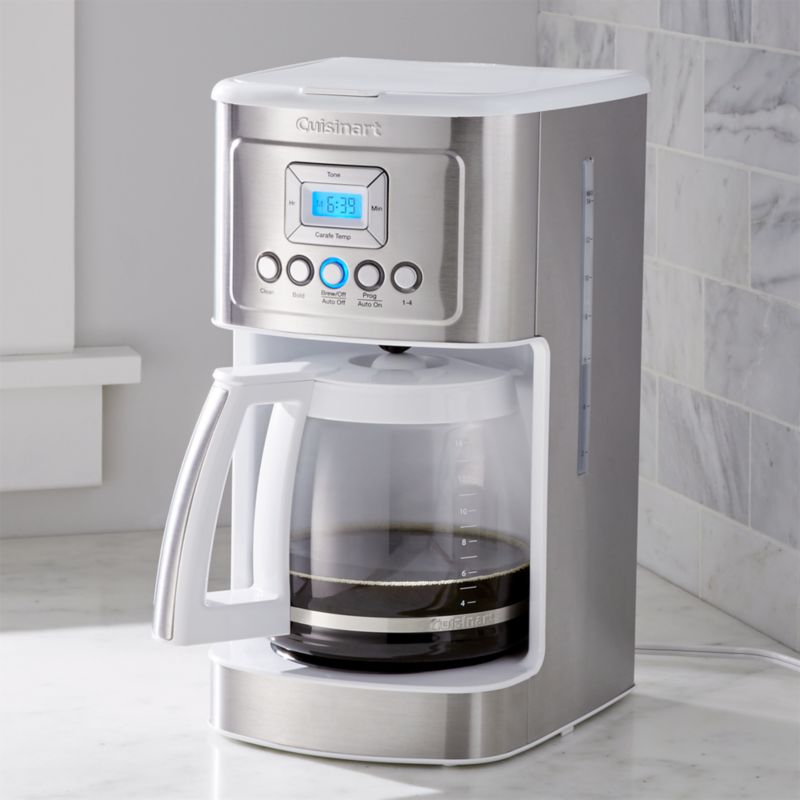 Cuisinart Coffee Maker In White : Cuisinart 14-Cup Perfectemp Programmable Coffee Maker White Crate and Barrel
