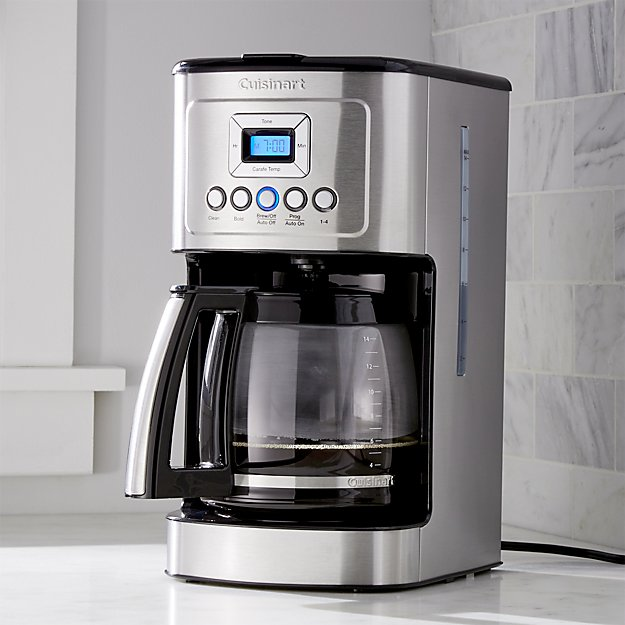 cuisinart 14-cup programmable coffee maker + reviews | crate and barrel