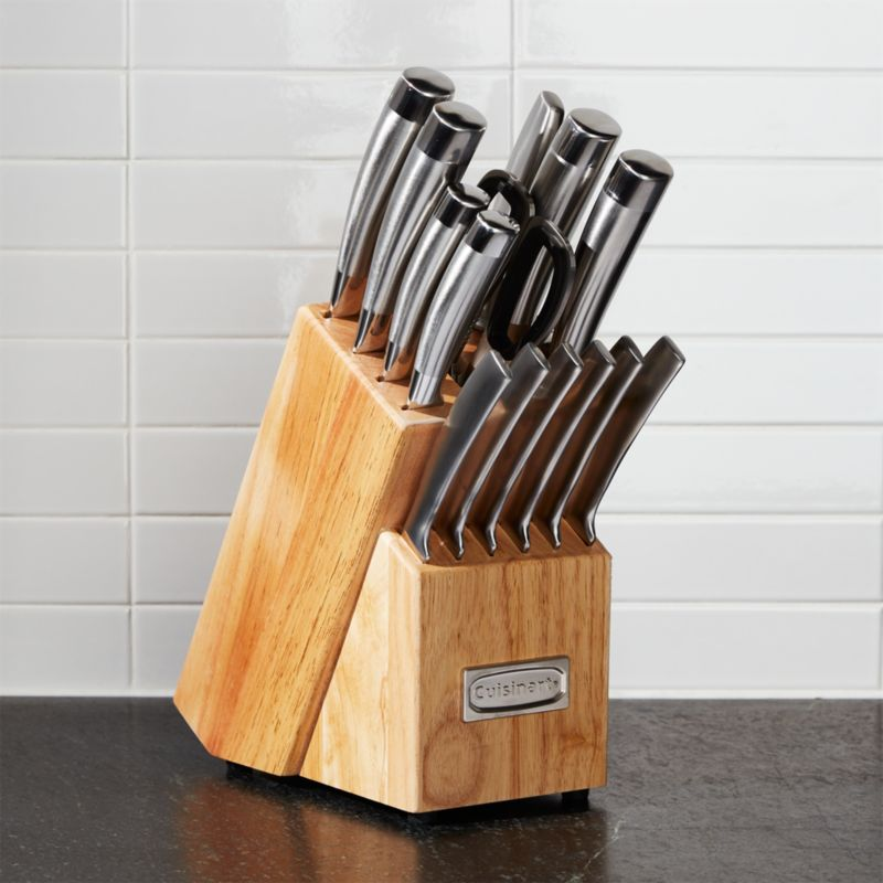 cuisinart 15 piece pro knife block set reviews crate and barrel. Black Bedroom Furniture Sets. Home Design Ideas