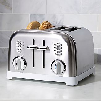 Cuisinart ® Classic 4-Slice White/Brushed Stainless Steel Toaster