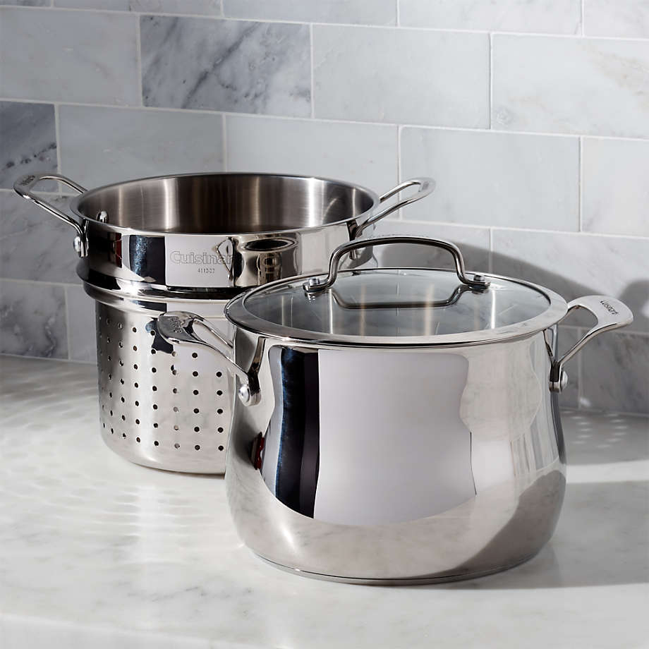 Viewing product image Cuisinart 6-Qt. 3-pc Pasta Pot with Strainer