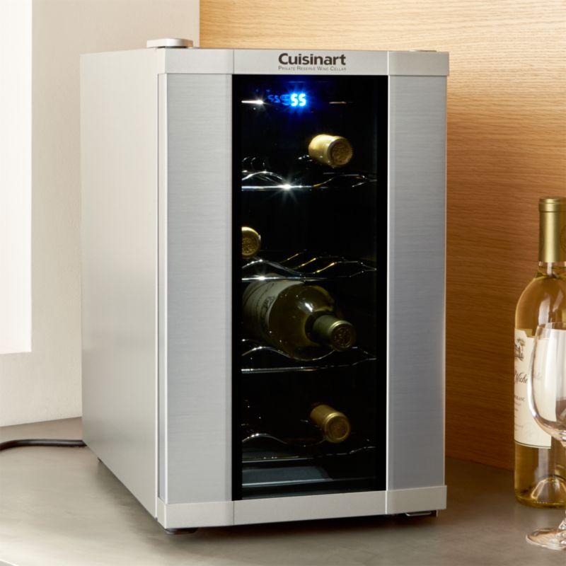 Cuisinart ® 8-Bottle Wine Cooler & Cuisinart 32-Bottle Wine Cooler + Reviews | Crate and Barrel
