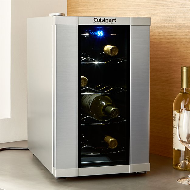 Cuisinart 8-Bottle Wine Cooler + Reviews | Crate and Barrel