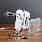 Cuisinart ® White 9-Speed Hand Mixer with Storage Case