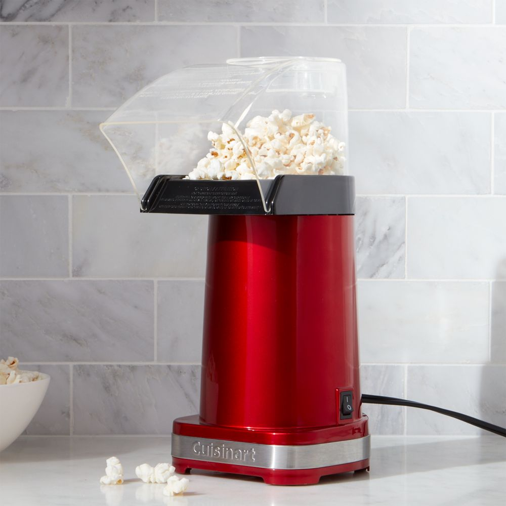 Cuisinart ® Metallic Red Hot Air Popcorn Maker - Crate and Barrel