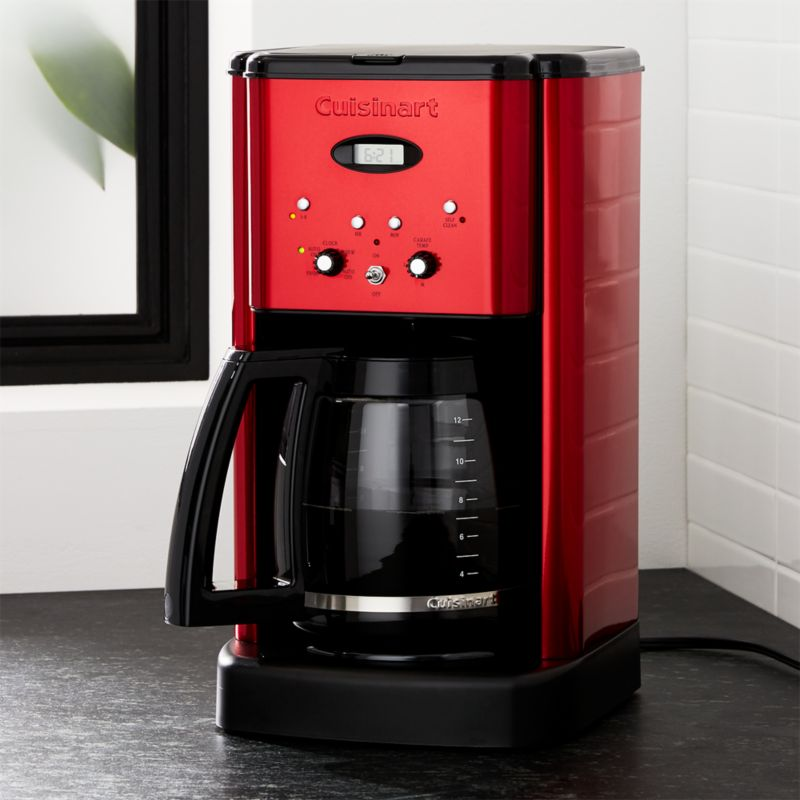 Cuisinart Brew Central 12 Cup Red Coffee Maker Reviews Crate And Barrel