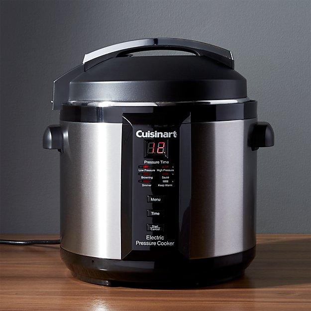 cuisinart 6 quart electric pressure cooker crate and barrel. Black Bedroom Furniture Sets. Home Design Ideas