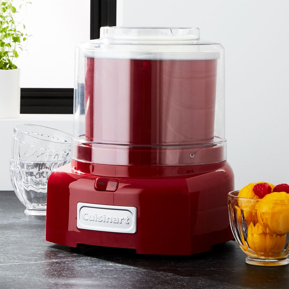 Cuisinart ® Red Ice Cream Maker/Frozen Yogurt Maker - Crate and Barrel