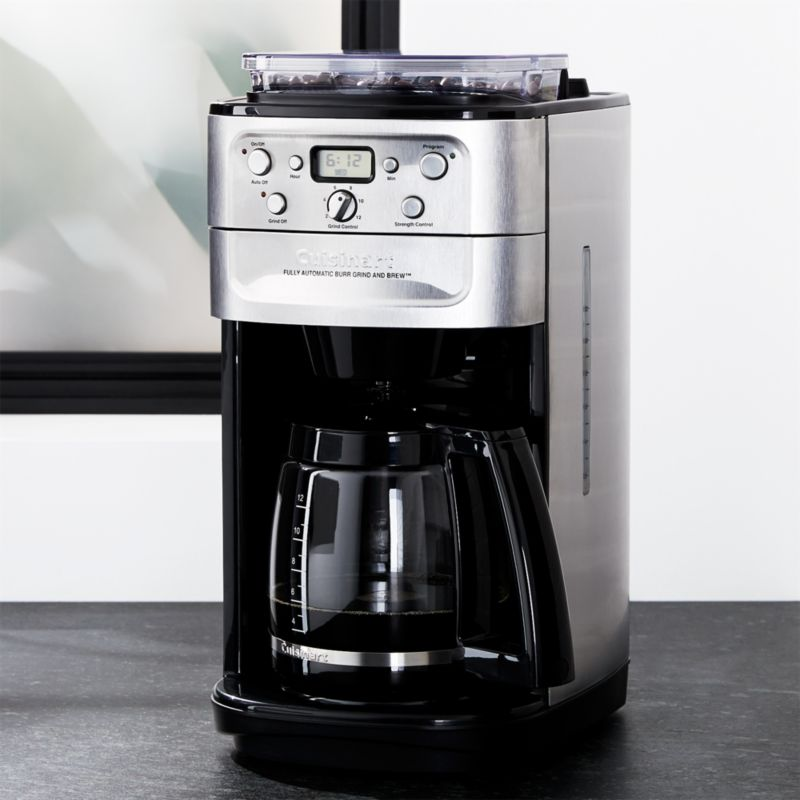 Coffee Maker Cuisinart Brew And Grind : Cuisinart Grind and Brew 12 Cup Coffee Maker Crate and Barrel