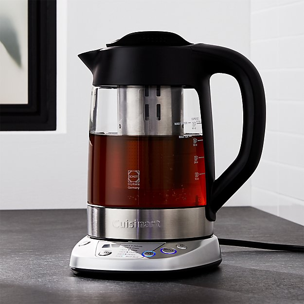 electric tea kettle cuisinart perfectemp electric tea kettle in teapots 12602