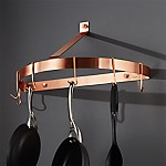 Cuisinart Half Circle Copper Wall Mount Pot Rack