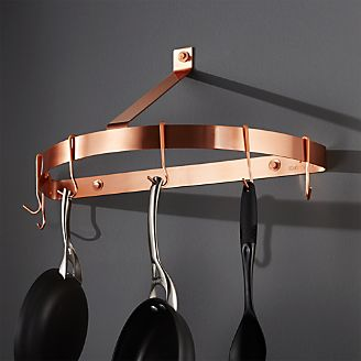 Pot Racks Hanging Wall Mounted Amp Stand Crate And Barrel