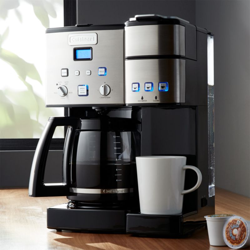 cuisinart combination k cup carafe coffee maker reviews crate and barrel. Black Bedroom Furniture Sets. Home Design Ideas