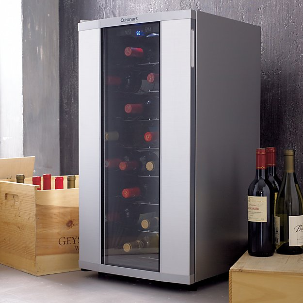 & Cuisinart 32-Bottle Wine Cooler + Reviews | Crate and Barrel