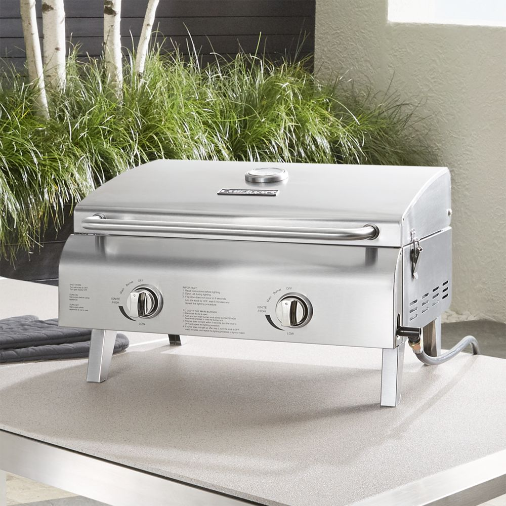 Cuisinart ® Chef Style 2-Burner Gas Grill - Crate and Barrel