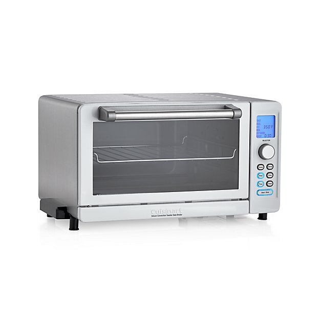 d7a1d7167f1 Cuisinart Deluxe White Stainless Steel Convection Toaster Oven Broiler +  Reviews