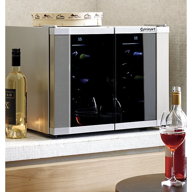 Cuisinart Dual Zone Wine Cooler + Reviews | Crate and Barrel