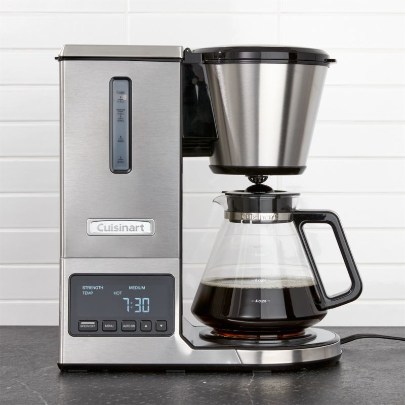 Cuisinart PurePrecision 8-Cup Pour-Over Coffee Maker with Glass Carafe Crate and Barrel