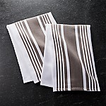 Cuisine Stripe Grey Dish Towels, Set of 2
