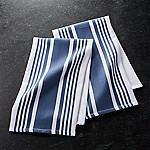 Cuisine Stripe Indigo Blue Dish Towels, Set of 2