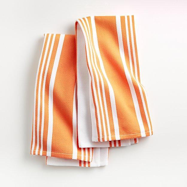 Cuisine Stripe Melon Dish Towels, Set of 2 - Image 1 of 3