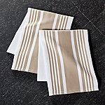 Cuisine Stripe Sand Dish Towels, Set of 2
