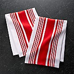 Cuisine Stripe Red Dish Towels, Set of 2