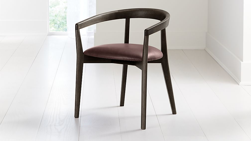 Cullen Dark Stain Merlot Round Back Dining Chair - Image 1 of 6