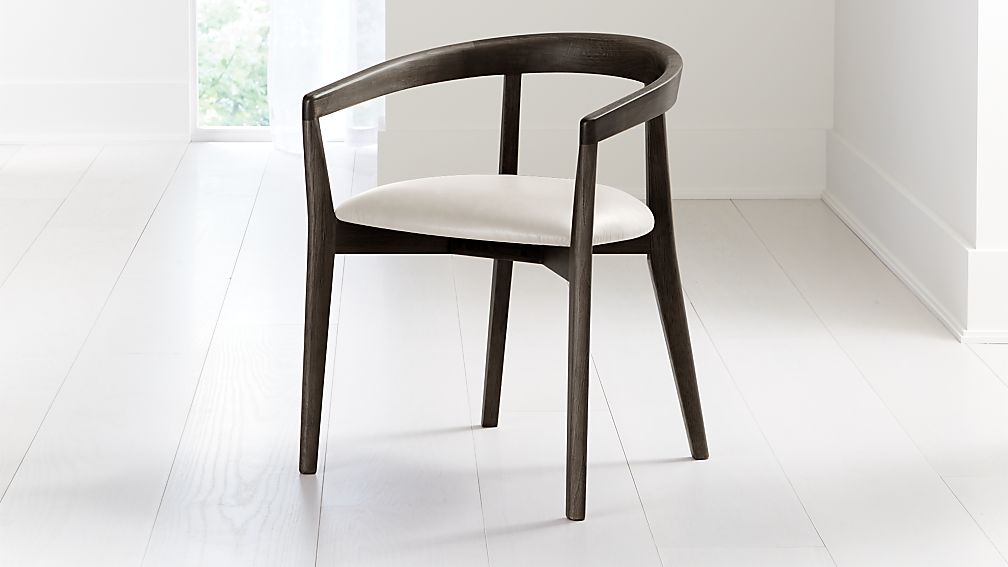 Cullen Dark Stain Sand Round Back Dining Chair - Image 1 of 6