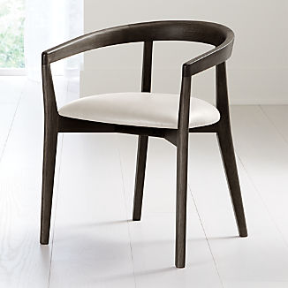 Cullen Dark Stain Sand Round Back Dining Chair