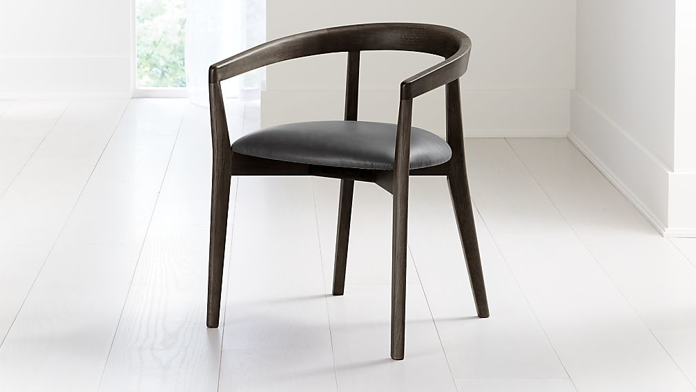 Cullen Dark Stain Viola Round Back Dining Chair - Image 1 of 6