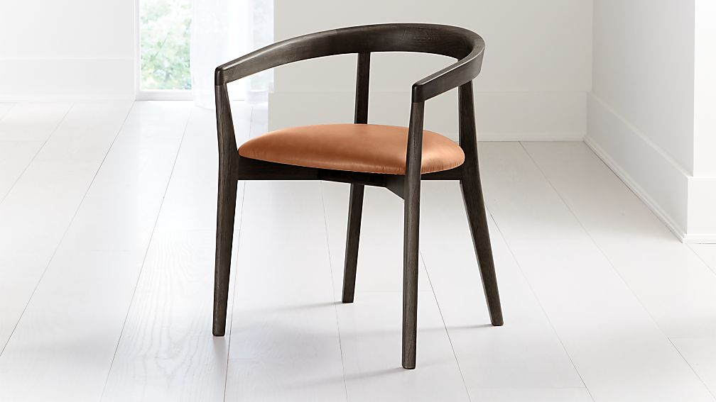 Cullen Dark Stain Whiskey Round Back Dining Chair - Image 1 of 6