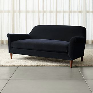 Cullen II Roll Arm Velvet Apartment Sofa