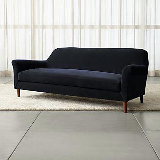 Cullen II Roll Arm Velvet Sofa